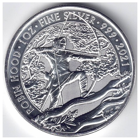 2021. Onza Britania.Robin Hood