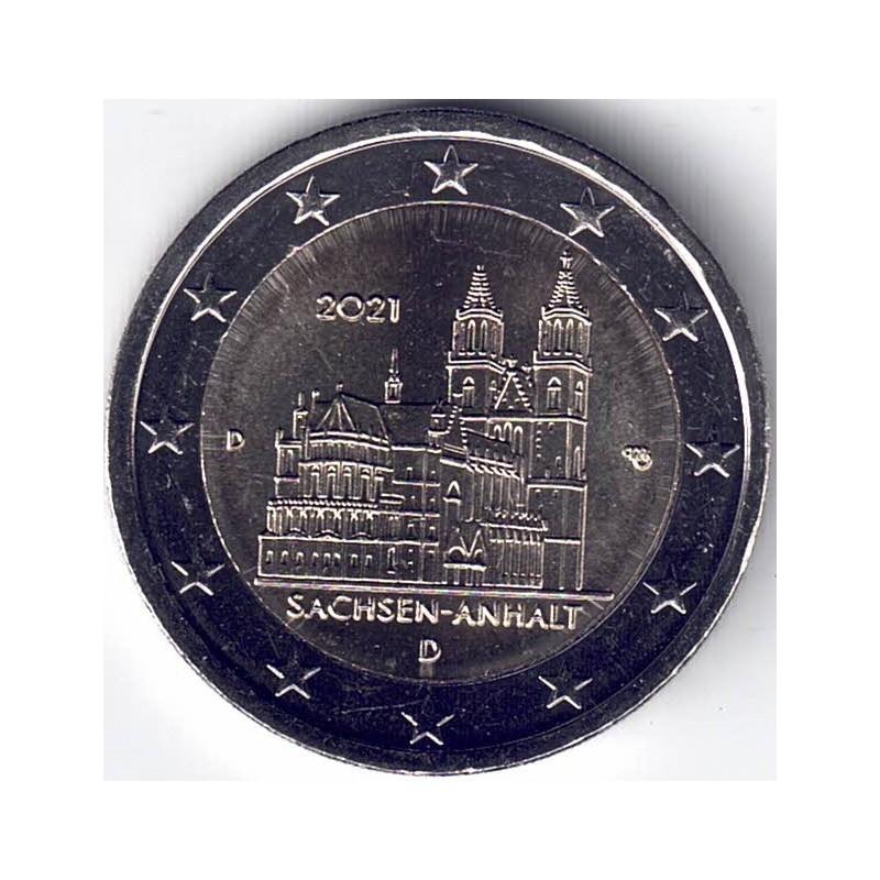 """2021. 2 Euros Alemania """"Sajonia"""""""