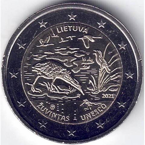 """2021. 2 Euros Lituania """"Zuvintas"""""""