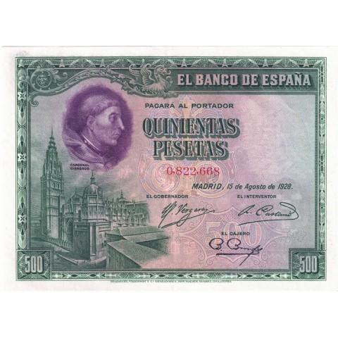1928. 500 Ptas Cardenal Cisneros