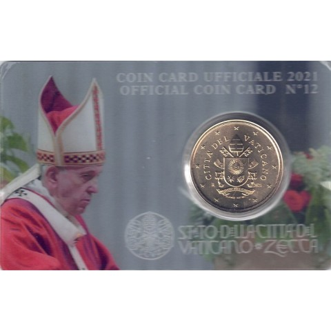 2021. coin card vaticano 50 ctms