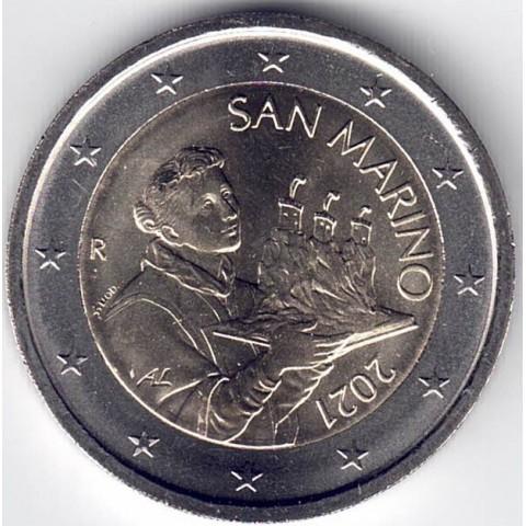 """2021. 2 Euros San Marino. """"Santo Marino"""""""