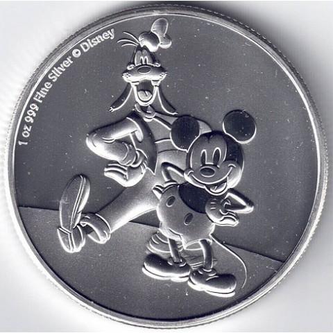 2021.Onza Niue. Mickey & Goofy