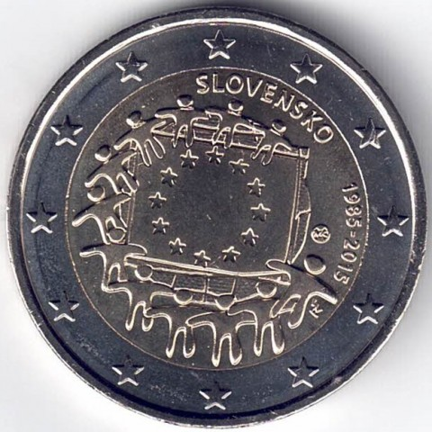 "2015. 2 Euros Eslovaquia ""Bandera"""