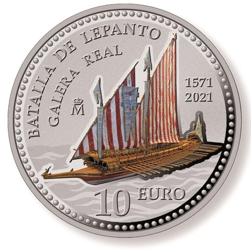 2021. 450 Aniv. Batalla Lepanto. 10 euros