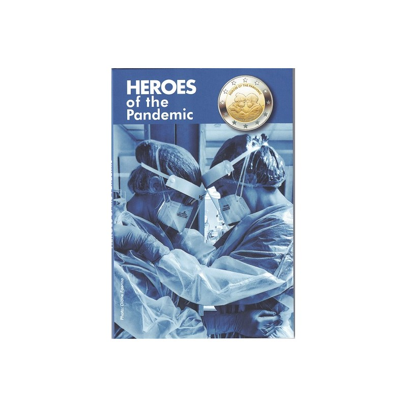 "2021. 2 euros Malta ""Heroes Pandemia"""