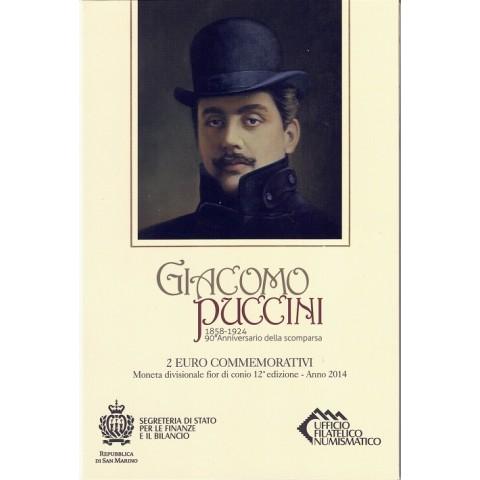 """2014. 2 Euros San Marino """"Puccini"""""""