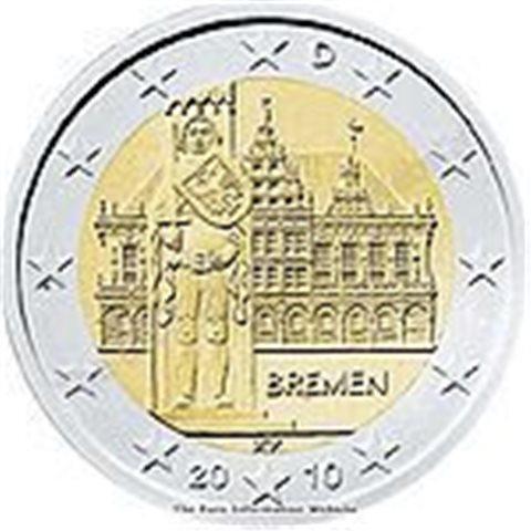 """2010. 2 Euros Alemania """"Bremen"""""""