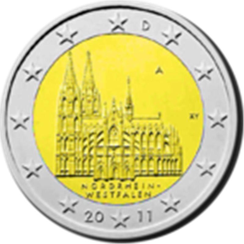 """2011. 2 Euros Alemania A-Berlín """"Renania"""""""
