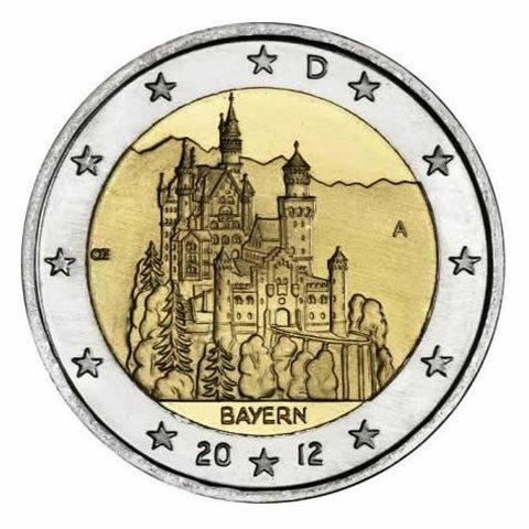 "2012. 2 Euros Alemania ""Baviera"""