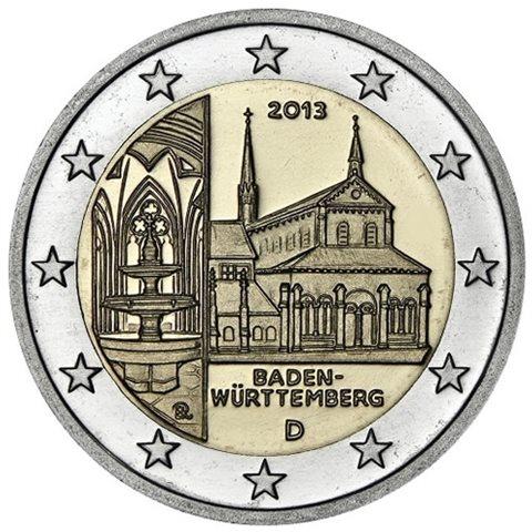 "2013. 2 Euros Alemania ""Baden Württemberg"""
