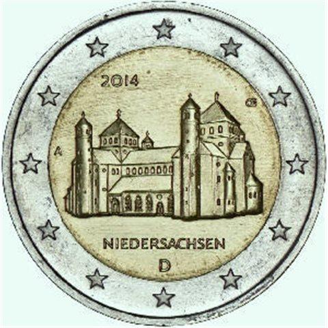 """2014. 2 Euros Alemania """"Baja Sajonia"""""""
