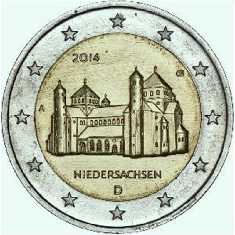 "2014. 2 Euros Alemania A-Berlin ""Baja Sajonia"""