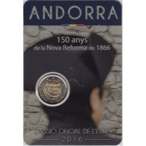 """2016. 2 Euros Andorra """"Reforma"""""""