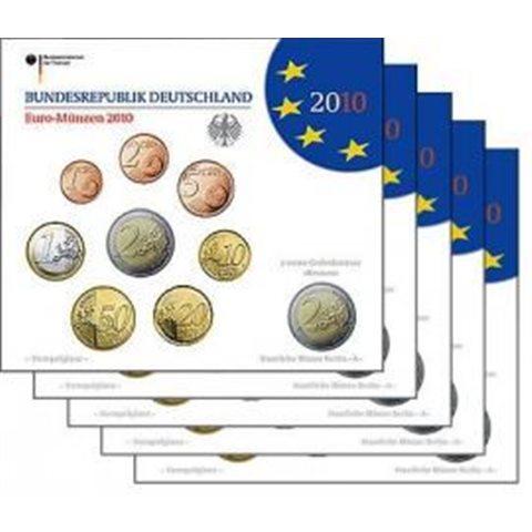 2010. Cartera euros Alemania (5 cecas)
