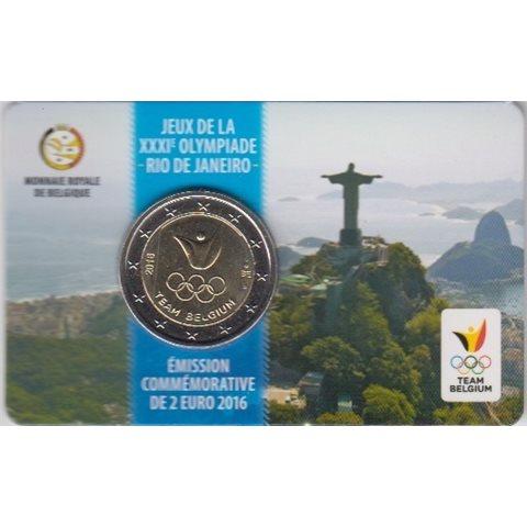 "2016. 2 Euros Bélgica ""Olimpiadas"""