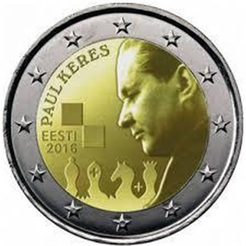 "2016. 2 Euros Estonia ""Paul Keres"""