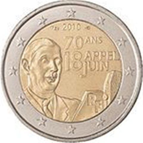 "2010. 2 Euros Francia ""18 de Junio"""
