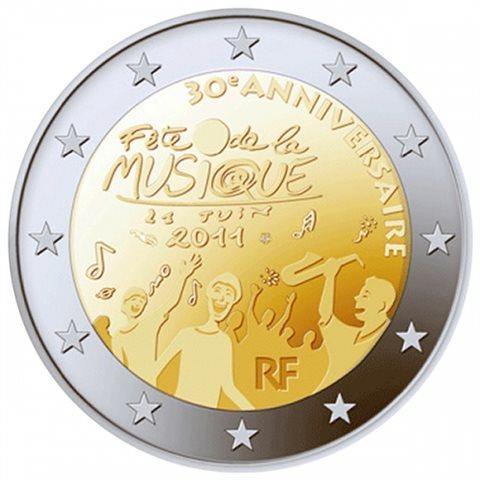 """2011. 2 Euros Francia """"Día Música"""""""