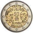 """2013. 2 Euros Francia """"Tratado Elíseo"""""""