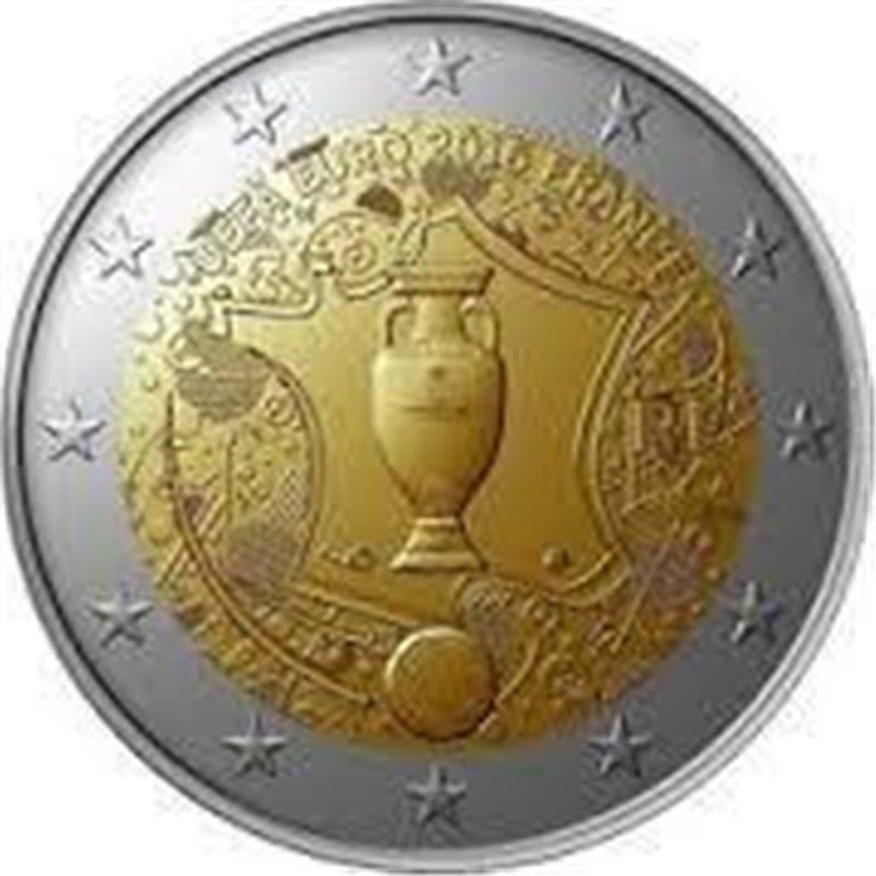 """2016. 2 Euros Francia """"Eurocopa"""""""