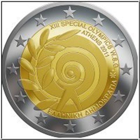 """2011. 2 Euros Grecia """"Juegos Especiales"""""""