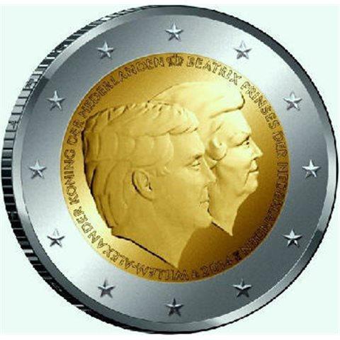 """2014. 2 Euros Holanda """"Cambio trono"""""""