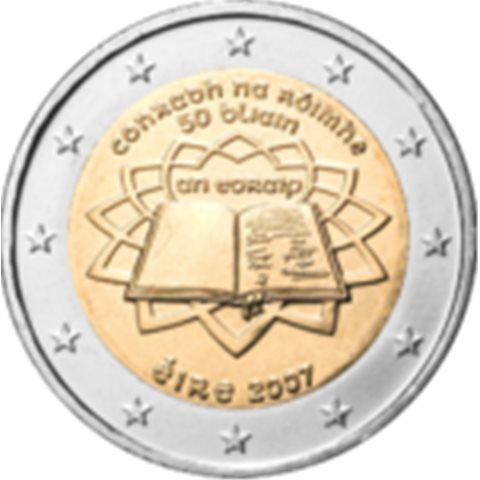 "2007. 2 Euros Irlanda ""Tratado de Roma"""