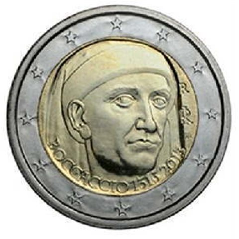 """2013. 2 Euros Italia """"Boccaccio"""""""