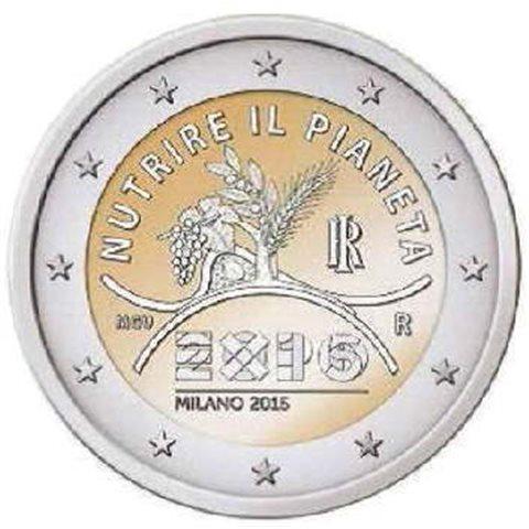 """2015. 2 Euros Italia """"Expo Milán"""""""