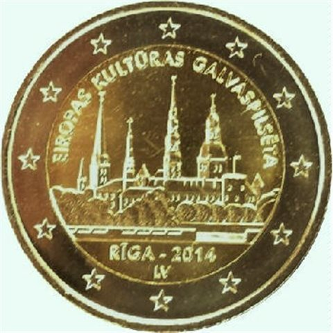"2014. 2 Euros Letonia ""Riga"""