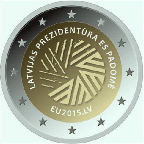 """2015. 2 Euros Letonia """"Presidencia"""""""