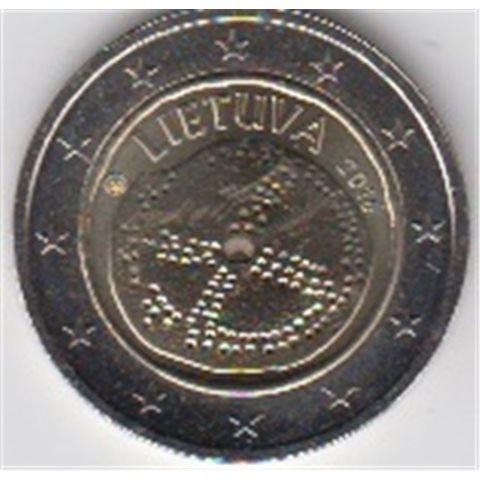 """2016. 2 Euros Lituania """"Cultura Báltica"""""""