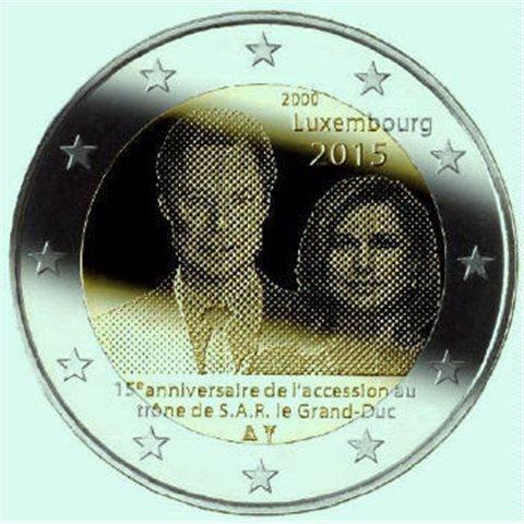 "2015. 2 Euros Luxemburgo ""Trono Enrique"""