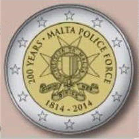 """2014. 2 Euros Malta """"Aniv. Policia"""""""