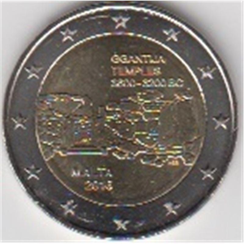 """2016. 2 Euros Malta """"Templos"""""""