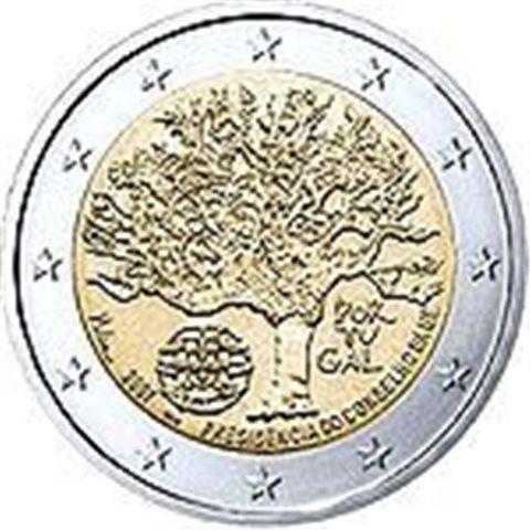 "2007. 2 Euros Portugal ""Presidencia UE"""