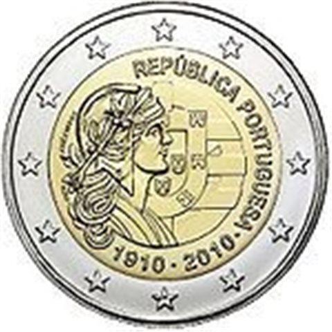 "2010. 2 Euros Portugal ""Centenario República"""