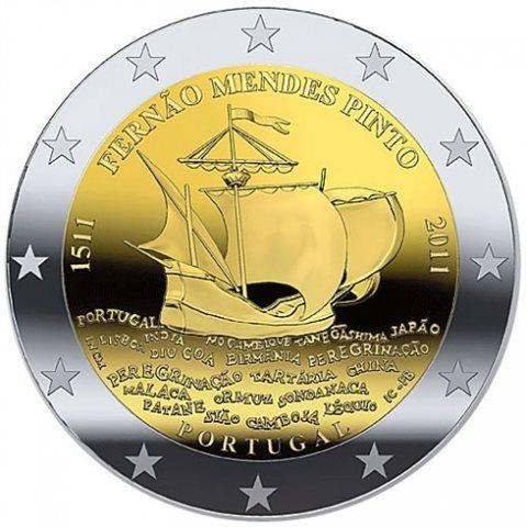 "2011. 2 Euros Portugal ""Mendes Pinto"""