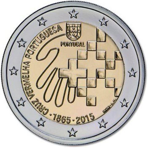"2015. 2 Euros Portugal ""Cruz Roja"""