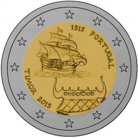 """2015. 2 Euros Portugal """"Timor"""""""