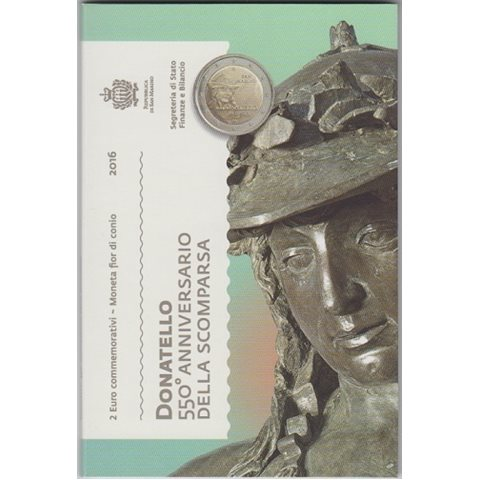 """2016. 2 Euros San Marino """"Donatello"""""""