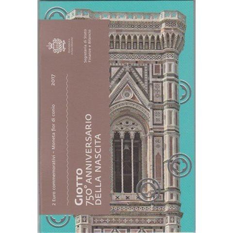 """2017. 2 Euros San Marino """"Giotto"""""""