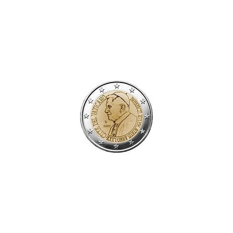 "2007. 2 Euros Vaticano ""Benedicto XVI"""