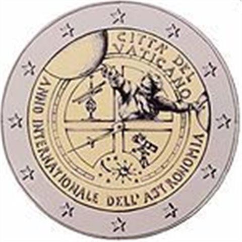 "2009. 2 Euros Vaticano ""Astronomia"""