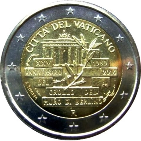 """2014. 2 Euros Vaticano """"Berlín"""""""