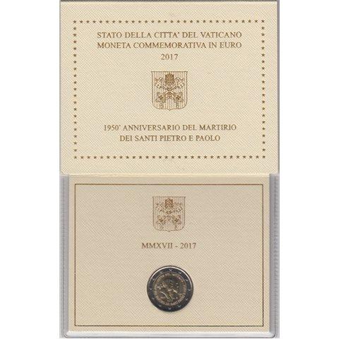 "2017. 2 Euros Vaticano ""Martirio"""