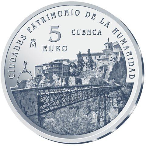 2015. Patrimonio Humanidad. Cuenca. 5 euros