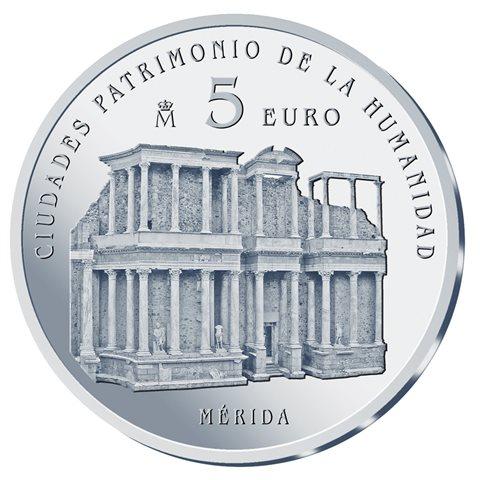 2015. Patrimonio Humanidad. Mérida. 5 euros