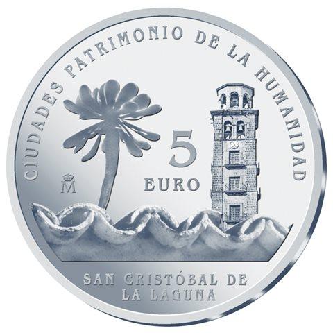 2015. Patrimonio Humanidad. San Cristóbal de La Laguna. 5 euros